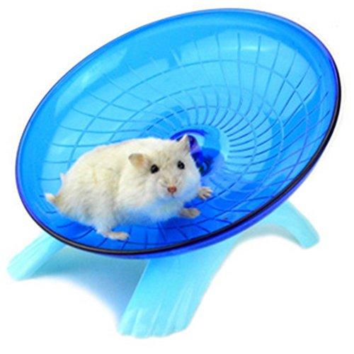 Vi.yo Hamster Fliegende Untertasse Übung Rad Kleintiere Übung Spielzeug Stille Spinner für Pet Syrian Hamsters Ratte Kunststoff 18 cm / 7