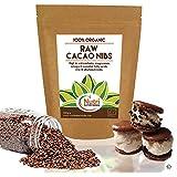 PLUMES de CACAO brut biologique (en chocolat noir). Super-aliment de qualité riche en magnésium et protéines végétales. Sans gluten, idéal pour la cuisine et boissons énergétiques - 200g