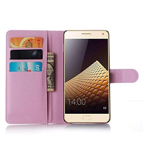 Tasche für Lenovo Vibe P1 Hülle, Ycloud PU Ledertasche Flip Cover Wallet Case Handyhülle mit Stand Function Credit Card Slots Bookstyle Purse Design rosa