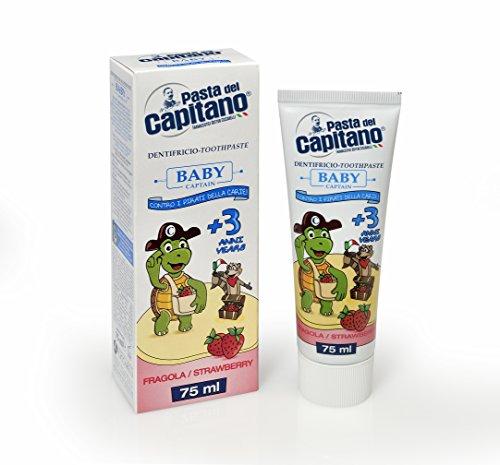 Pasta del Capitano Baby/Junior + 3 Jahre - Erdbeere, 75 ml (Für Kinder Bio-zahnpasta)