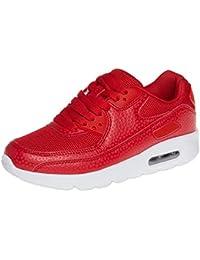Caspar ssn006?Mujer Zapatillas, color Rojo, talla 38