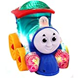 Jiada Musical Thomas Engine with lights, Bump and go action, Funny Loco (Multicolor)