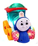 #6: Jiada Musical Thomas Engine with lights, Bump and go action, Funny Loco (Multicolor)