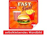 Best brotes Posters - Adhesivo Pared de Just Fast Food–Fáciles de pegar–Wall Review