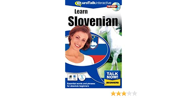 Download option and CD ROM Eurotalk Talk Now Slovenian for Beginners
