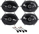Kicker 6x8 Front+Rear SpeakerKit for 08 10 Ford F 250/350/450/550