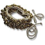 Prisha india Artesanía ® Kathak Ghungroo par (100 de 100) mejor calidad de campanas atados con cordón de algodón clásica india bailarines pulsera para el tobillo instrumento musical (12 No. Ghungroo)