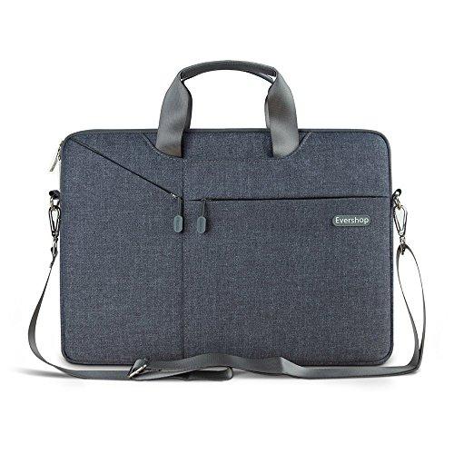 Laptop Schulter Tasche (3 in 1 Laptop Schulter Tasche - Evershop Handtasche Schultertasche Aktenkoffer für Macbook Air Pro / Notebook / Oberfläche(Grau, 13,3 Zoll))