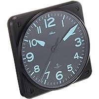 Atlanta radio orologio da parete analogico nero 4381–7 - Radiocontrollato Orologio Da Parete Analogico