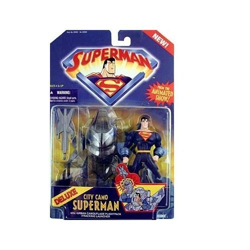 Superman the Animated Series Deluxe City Camo Superman Action Figure by Kenner -