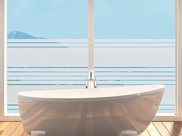 Sichtschutzfolie Fensterfolie Folie Für Badezimmer Viele Streifen Dünn Dick  (100x57cm)