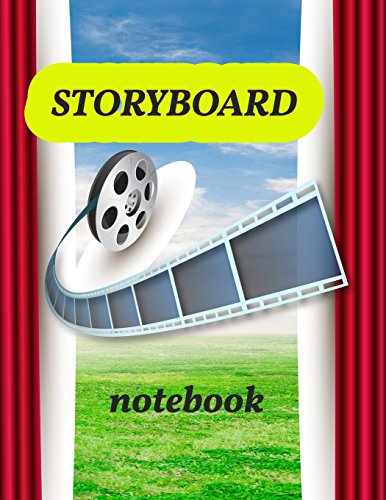 Storyboard Notebook: 1:1.85 - 4 Panels with Narration Lines for Storyboard Sketchbook ideal for filmmakers, advertisers, animators,notebook,storyboard drawings: Volume 6 por Marguerite R. Peterson