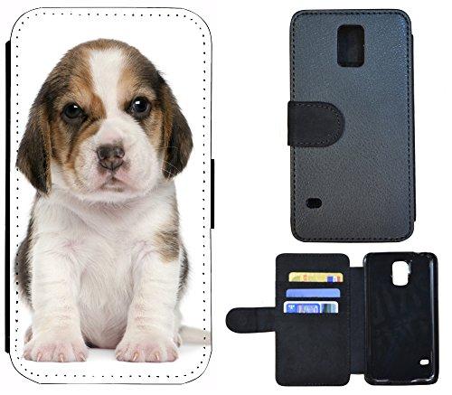 Schutz Hülle Flip Cover Handy Tasche Etui Case für (Apple iPhone 6 / 6s, 1167 Nofretete Frau Ägypten Schwarz Rot) 1168 Hund Welpe Braun Weiß