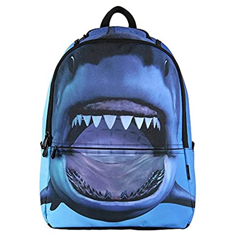 Veevan Premium Polyester Animal Cool Kids School Backpacks (Shark) - Premium Piccoli Animali