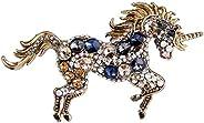 EVER FAITH Women's Austrian Crystal Running Unicorn Br