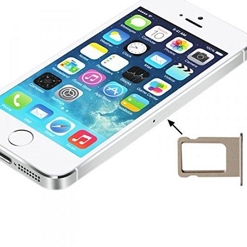 Wigento Apple iPhone 5 5S SIM Karten Halter SIM Tray SIM Schlitten SIM Holder Gold Ersatz Simkartenhalter SIM-Tray Apple iPhone 5S 5 S Zubehör Ersatzteile Reparatur (Iphone 5 Nano-sim-karte Tray)