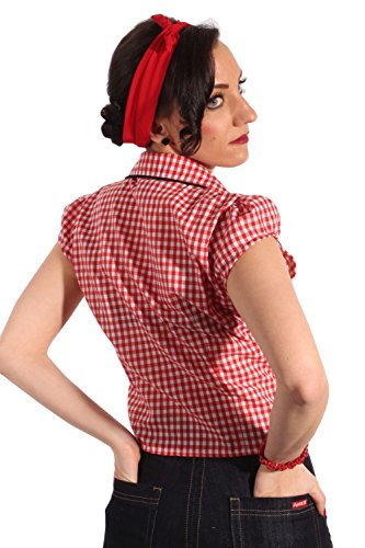 Country Gingham pin up rockabilly Karo Western Binde Bluse -