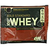 Optimum Nutrition Gold Standard 100% Whey Double Rich Chocolate Protein Powder (Pack of 24 Sachets)