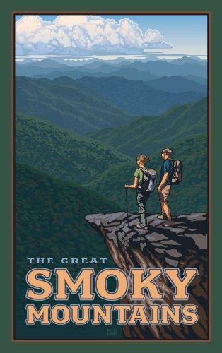 Northwest Art Mall Wandern in die Great Smoky Mountains North Carolina Art Wand von Paul Leighton, 11von 43cm
