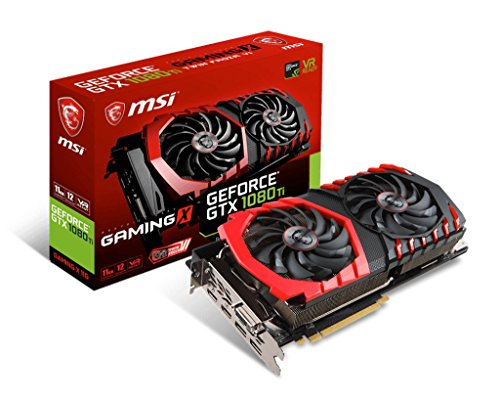 MSI GeForce GTX 1080TI Gaming X 11GB Nvidia GDDR5X 2x HDMI, 2x DP, 1x DL-DVI-D, 2 Slot Afterburner OC, VR Ready, 4K-optimiert, Grafikkarte