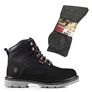 Scruffs Twister Safety Boots and Grey Boot Socks