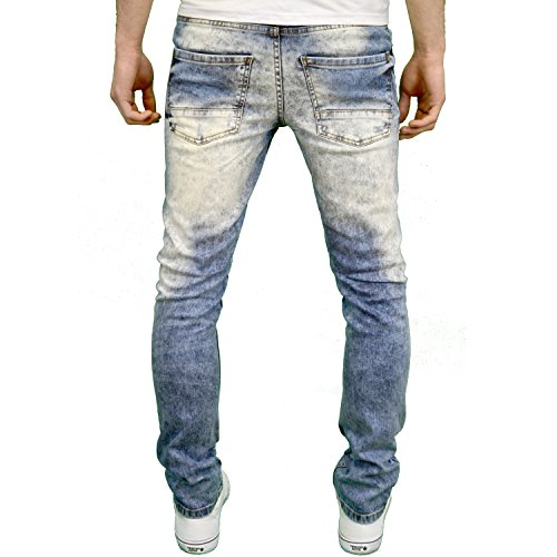 Seven Series Herren Jeanshose Ripped - Dark Blue