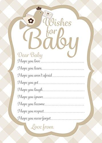Baby Dusche, Wünsche für Baby, neutral Karo Design, werdende Mama