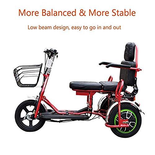 Joy Elektrisches Dreirad Faltbarer Elektroroller 3 Rad Elektroräder 48V12A 35km Freizeit Im Freien Reise Für Senioren/Behinderte Elektrischer Rollstuhl Für Erwachsene