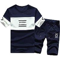 Homebaby 2pcs Tuta Sportiva Estive T-Shirt Manica Corta da Uomo + Pantaloncini Eleganti Vintage Maglietta in Cotone Moda…