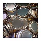 25 Stück X to 70 mm Gold Schraubdeckel für Gläser • Twist Off Deckel Verschluss Ø 70mm • Ersatzdeckel To70 • 25,50,100,150,200,250,500 Stück • Große Auswahl Verschiedene Größen und Farben