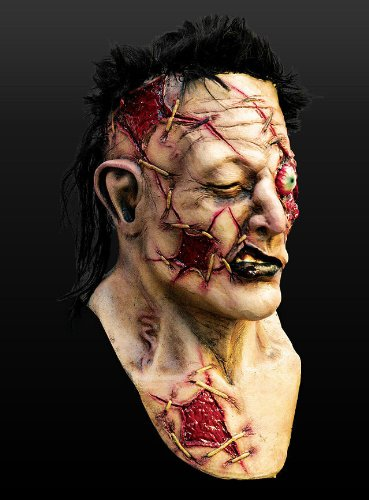 Maske Zombie Gladiator Zombiemaske Horror Halloween Karneval Fasching (Halloween Maske Gladiator)
