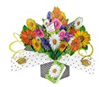 Geburtstag Blumen Pop-Up Grußkarte Original Second Nature 3D Pop up Karten