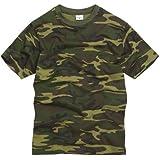 RTC US Military Style T-Shirt - Woodland Camouflage
