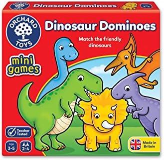 Célébrez le Nouvel An, carnaval Orchard Toys Mini Game Dinosaur Dominoes | Art Exquis