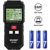 Detector de Radiación de Campo Electromagnético/ Medidor EMF,LIUMY Mini LCD Digital Dosímetro de Detector EMF Contador Tester,Detección de Radiación de Campo Magnético Alarma de Radiación(Baterias Incluidas)