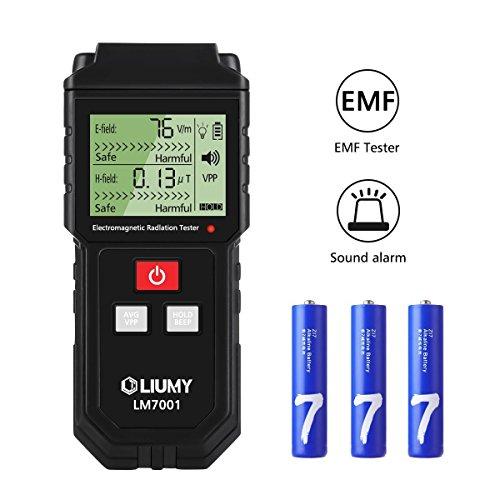 Rauchmelder mit elektromagnetischen Feldes/Messbecher EMF Strahlung, liumy Mini LCD Digital...