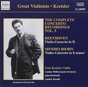 Beethoven : Concerto Pour Violon En Ré, Op.61 - Mendelssohn : Concerto Pour Violon En Ré Min., Op.64