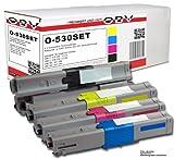 OBV 4er Pack kompatibler XL Toner für OKI C510 C510DN C530 C530DN MC561 MC561DN u.a. schwarz, cyan, magenta, gelb