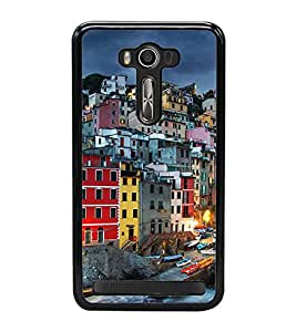 Fuson Premium 2D Back Case Cover Bulidings With red Background Degined For Asus Zenfone 2 Laser ZE550KL::Asus Zenfone 2 Laser ZE550KL (5.5 Inches)