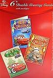 6er Set Weihnachtskarten 16,5 cm Cars & Umschläge Disney Weihnachten Deko