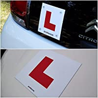 BITS4REASONS PROFESSIONAL GRADE L PLATES KIT MAGNETIC & GLASS WINDOW APPLICATION NO ADHESIVE HEAVY DUTY REUSABLE USED ON OUR OWN DRIVING SCHOOL CARS