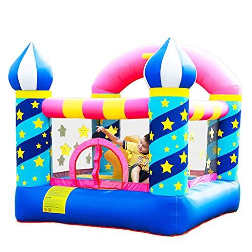 Bouncy Castles Sports Toys Garden Children's Playground Children's Outdoor Playground Child's Trampoline Summer Water Park Large Children's Toys (Color : Color, Size : 225 * 220 * 215cm)