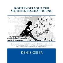 Kopiervorlagen zur Seniorenbeschäftigung