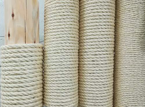 Kratzbaumland Qualitäts-Sisalseil aus Madagaskar-Faser, 6-12 mm, 100 Meter (6 mm)