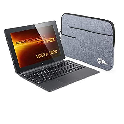 CSL Panther Tab HD 3G inkl. Windows 8.1 - 10.1 Zoll (25,6cm) Full HD Tablet, Intel QuadCore 4x 1.3GHz, 2GB RAM, 64GB SSD, Tastatur-Dock, Tasche, 3G UMTS-Modul