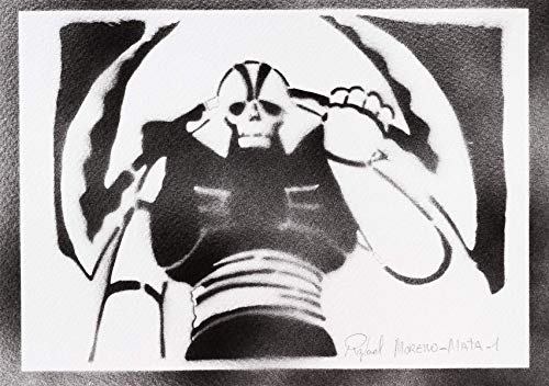 Kostüm Bilder Aphrodite - Robot Garada K7 Poster Plakat Handmade Graffiti Street - Artwork