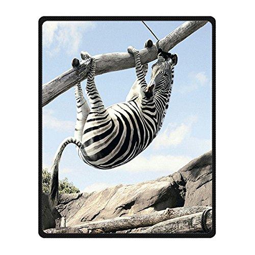 Brauch Zebra-stripe Zebra-Streifen Vlies Decke und Werfen Blanket and Throw für Bett oder Sofa 102 Zentimeters x 127 Zentimeters (Zebra-streifen-lampe)
