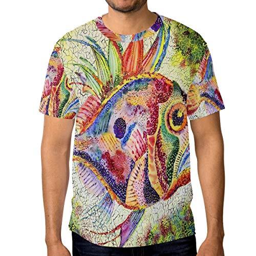 T-Shirt für Männer Jungen Rainbow Fish Custom Short Sleeve -