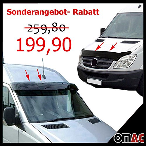 OMAC Sonnenblende und Motorhaube Deflektor Set für MB Sprinter W906 2006-2013