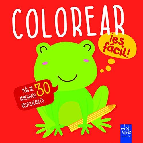 Colorear ¡es fácil! Rana: Con adhesivos por YOYO